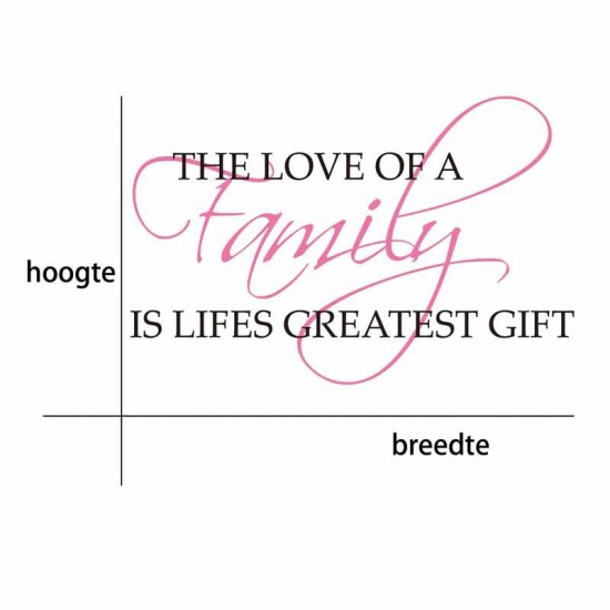 Family Love Is The Greatest Gift