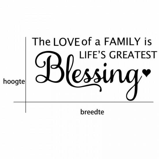 Family Love Life Greatest Blessing