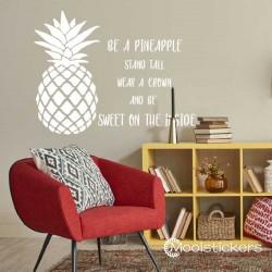 Ananas Teksten Muursticker