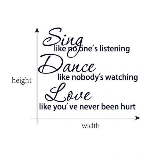 Sing Dance Love Muursticker
