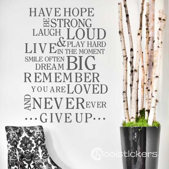 Have Hope Never Give Up