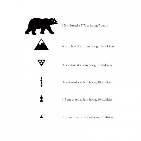 Beren Sneeuwbergen Driehoeken