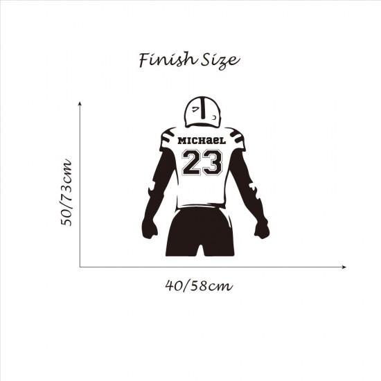 Rugby Speler Naam en Shirtnummer
