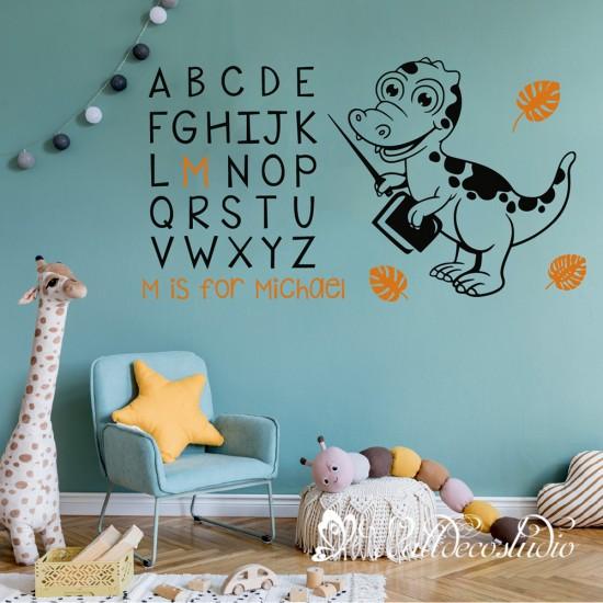 Educatief Alfabet  Dinosaur met Naam