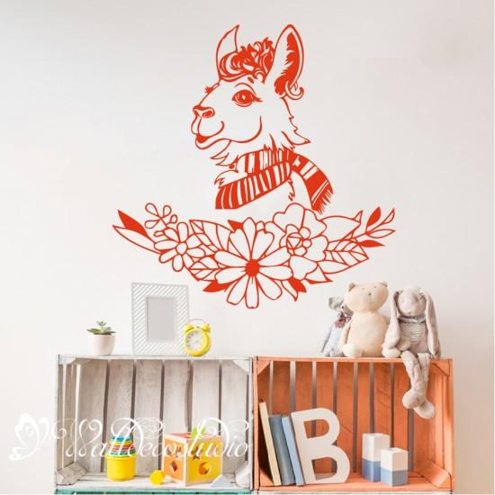 Llama Alpaca Muursticker