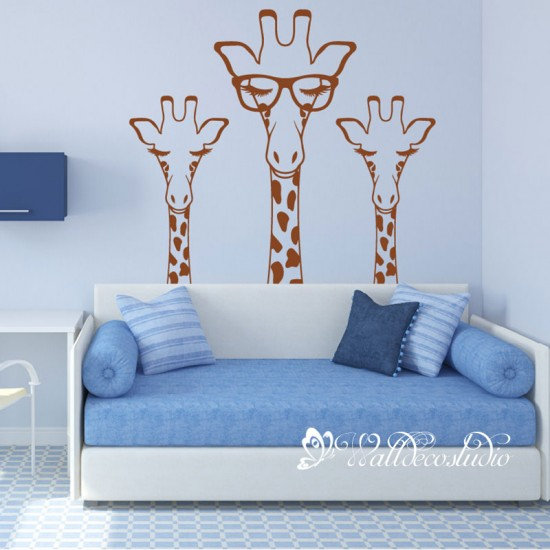 Giraffe Babykamer Muursticker