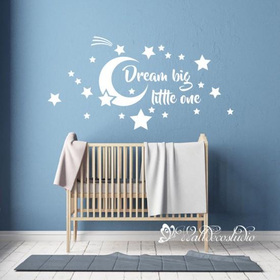Dream Big Little One Maan Sterren Sticker