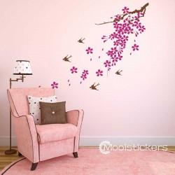Sakura Bloemen En Zwaluwen