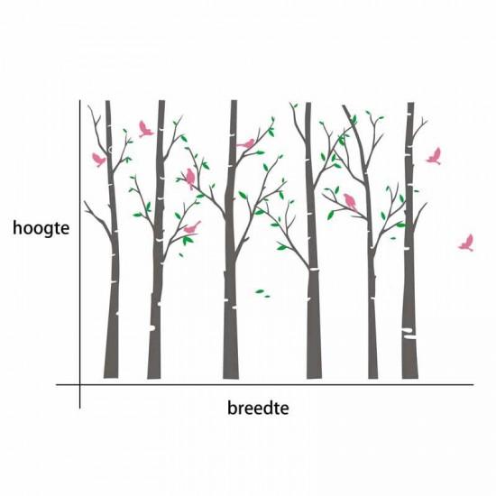 Berkenbomen en Vogels