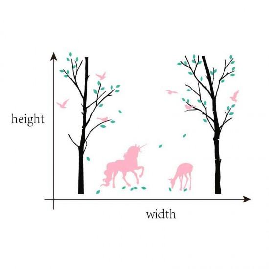 Berkenbomen met Eenhoorn en Herten