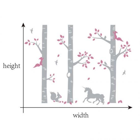 Jungle met Eekhoorns Vogels en Eenhoorn
