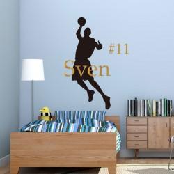 Basketbal met Naam Rugnummer