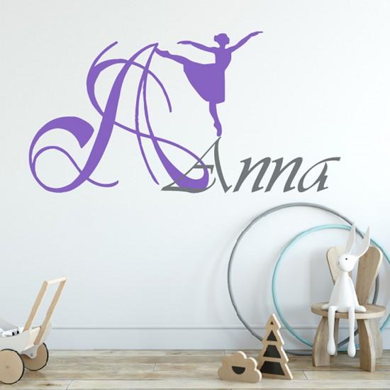 Balletdanser Naam Monogram