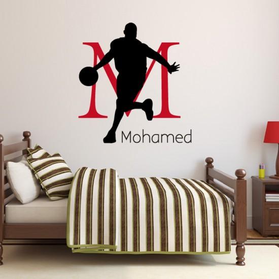 Basketbal met Naam Monogram