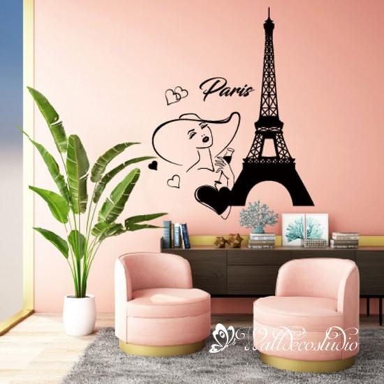 Eiffeltoren met Mode Meisje Stijl