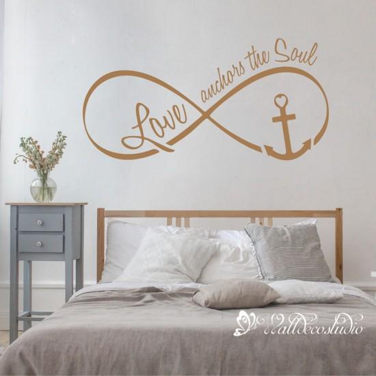 Love Anchors the Soul Tekst Sticker