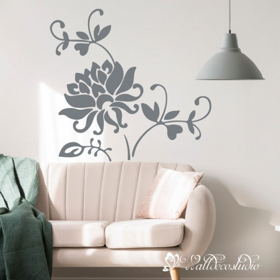 Chrysanthemum Bloem Sticker