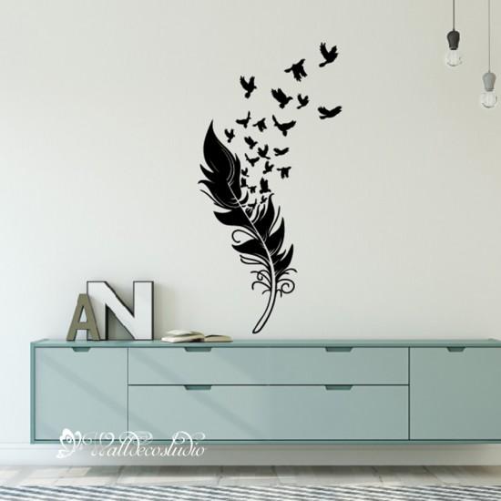 Vogels van Veren Muursticker