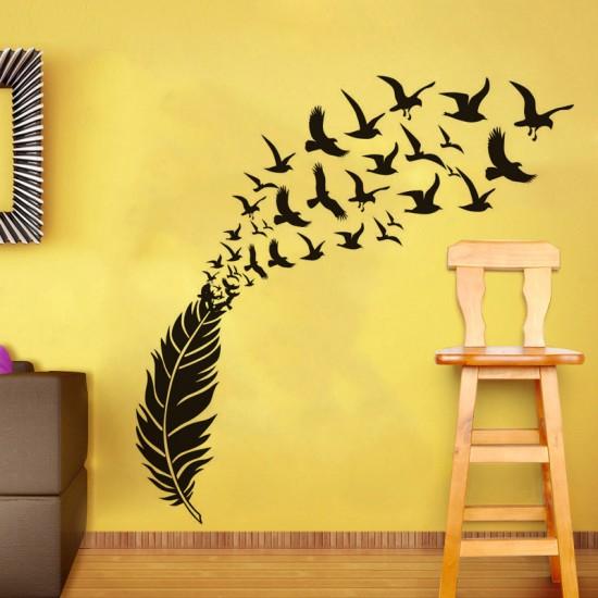 Sticker met Vogel Veer