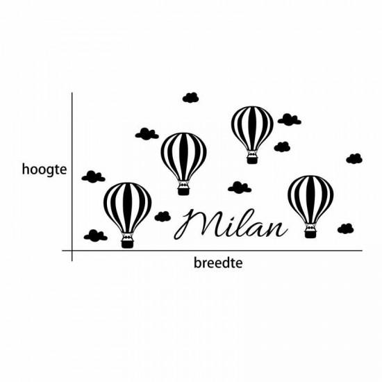 Heteluchtballon en Wolken
