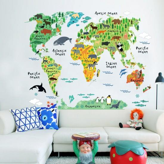 Dieren Oceaan Wereldkaart