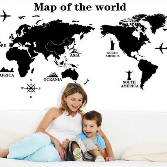 Wereldkaart Voor Kinderen Kamer