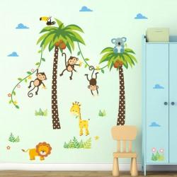 Palmboom Aapjes Koala Giraffe Leeuw