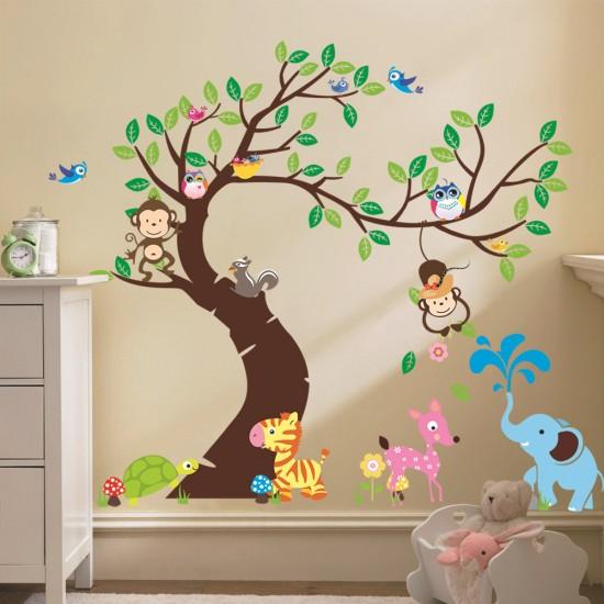Dieren Oerwoud Voor Kinderkamer